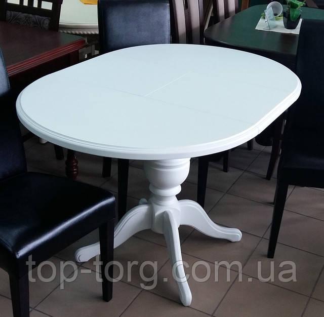 Стол Анжелика Гермес белый раскладной деревянный