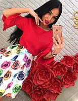 Женский яркий костюм DB-3523