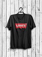 Стильная мужская футболка Levi`s черная
