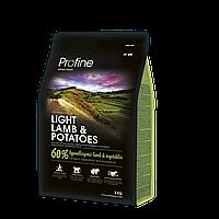 Profine Light Lamb & Potatoes корм для собак с ягненком, оптимизация веса, 3 кг