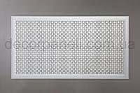 """Решетка (экран) для батарей """"Сити"""", цвет белый, из ХДФ и МДФ, 68 см х 128 см х 1,8 см"""