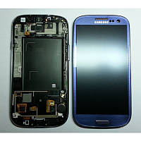Дисплей Samsung Galaxy S3 Duos GT-I9300i Original comlete with frame  Dark Blue 100%