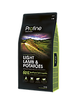 Profine Light Lamb & Potatoes корм для собак с ягненком, оптимизация веса, 15 кг
