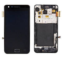 Дисплей Samsung Galaxy S II GT-I9100 black complete with frame