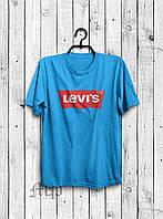 Стильная мужская футболка Levi`s голубая