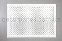 """Решетка (экран) для батарей """"Сити"""", цвет белый,  из ХДФ и МДФ 68 см х 98 см х 1,8 см"""