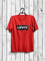 Стильная мужская футболка Levi`s красная