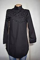 Женская рубашка черного цвета