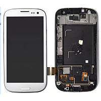Дисплей Samsung Galaxy S3 Duos GT-I9300i Original comlete with frame  White 100%