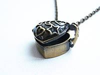 Оригинальный медальон для фото на цепочке, кулон для влюбленных