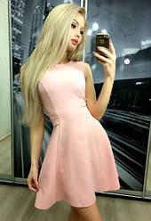 Платье скромница пудра