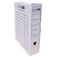 Бокс архивный для документов, 8 см белый