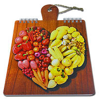 Блокнот для рецептов на жесткой основе CookNotes «Овощи 3»