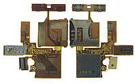 Шлейф Sonyericsson W380/Z555 Sim+MMC