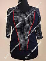 Оригинальная кофта-футболка для женщин Батал 0385