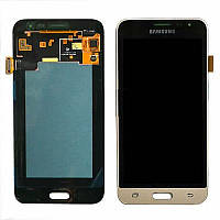 Дисплей Samsung Galaxy J3 2016 SM-J320F Original complete with touch Gold