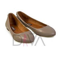 Балетки дешевые женские кожаные Турция 5012-7vizon