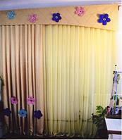"""Готовые наборы штор для окон - Комплект детский """"Цветы"""" 3 м"""