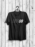 Стильная мужская футболка Nike SB черная