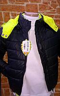 Куртка для мальчика демисезонная,черная