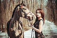Прогулки на лошадях по лесу