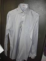 Рубашка серая мужская с длинным рукавом Flash оптом и в розницу