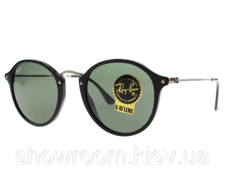 Мужские солнцезащитные очки в стиле Ray Ban 2447 901 black Lux