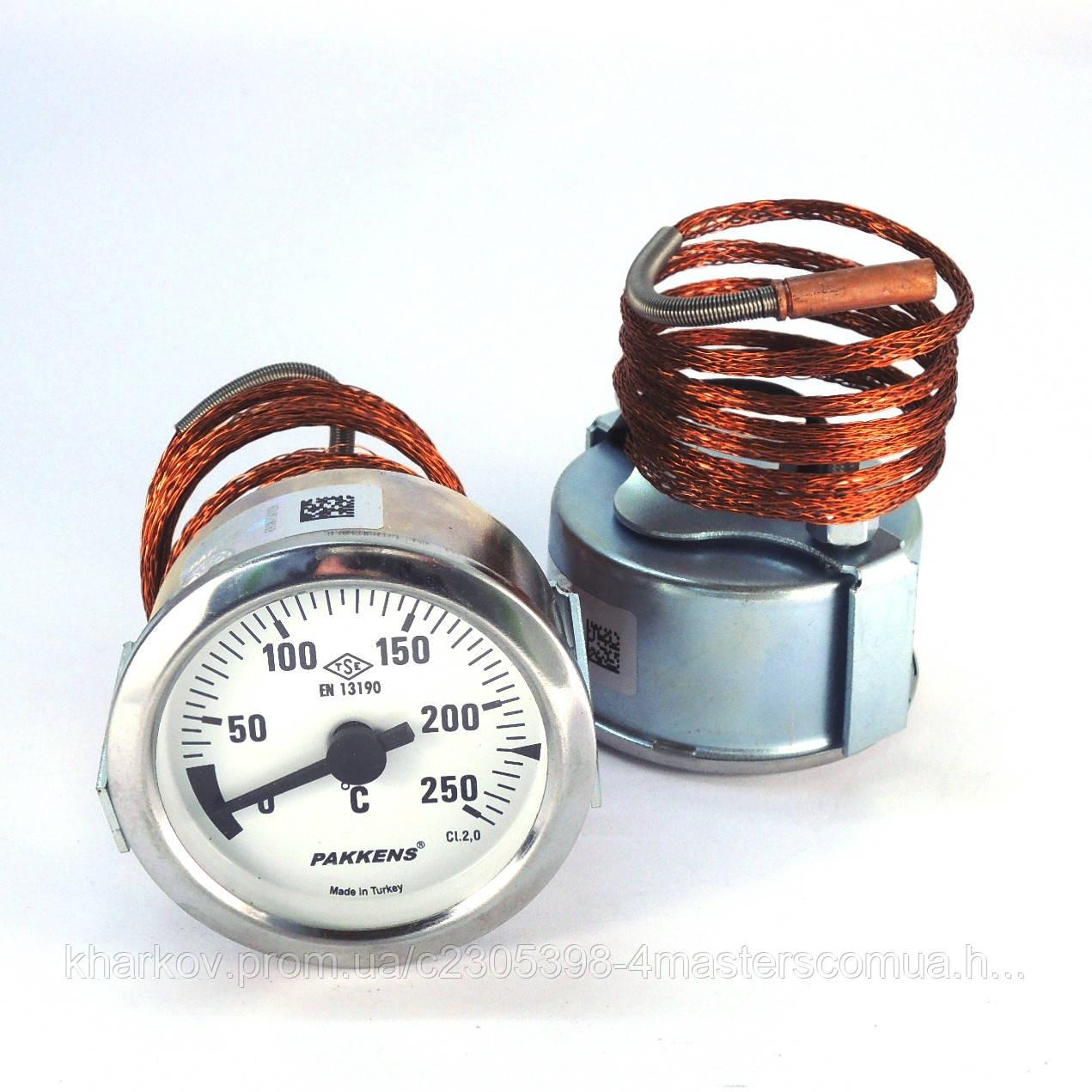 Термометр 0 250°С с выносным датчиком 1 м Ø60, Pakkens Турция