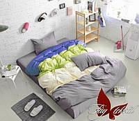 Комплект постельного белья евро Color mix 001