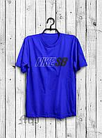 Стильная мужская футболка Nike SB Cиняя