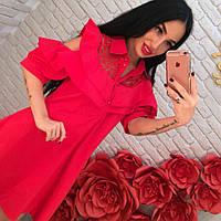 Женское летнее красное платье DB-3539