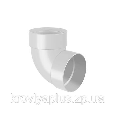 Колено трубы, отвод двухмуфтовый 67° Ø100, фото 2