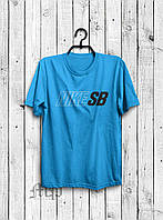 Стильная мужская футболка Nike SB голубая