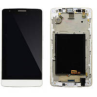 Дисплей LG G3S D722 /D723/D724/D725   complete with touch and frame White