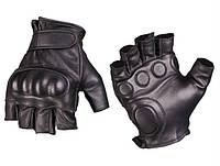 Тактические беспалые перчатки с защитой, black. Mil-tec, Германия.