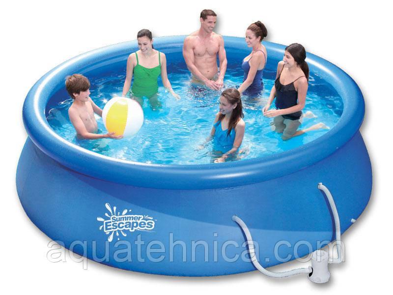 Надувной бассейн Swig pools 3,66 х 0,91 с фильтром 2.2 м3 в час (220 В)