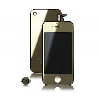 Дисплей iPhone 4S   Gold + back cover and menu button