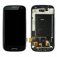 Дисплей Samsung Galaxy S III GT-I9300 Original comlete with frame  Black