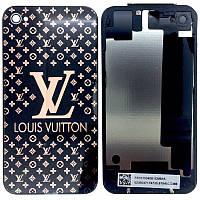 Крышка задняя Iphone 4S Black LOUIS VUITTON Original qwality