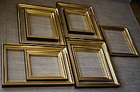 Золочение сусальным золотом деревянных рам для старинных икон.