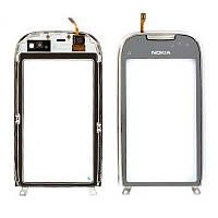 Тачскрин Nokia C7 Silver ( с рамкой)