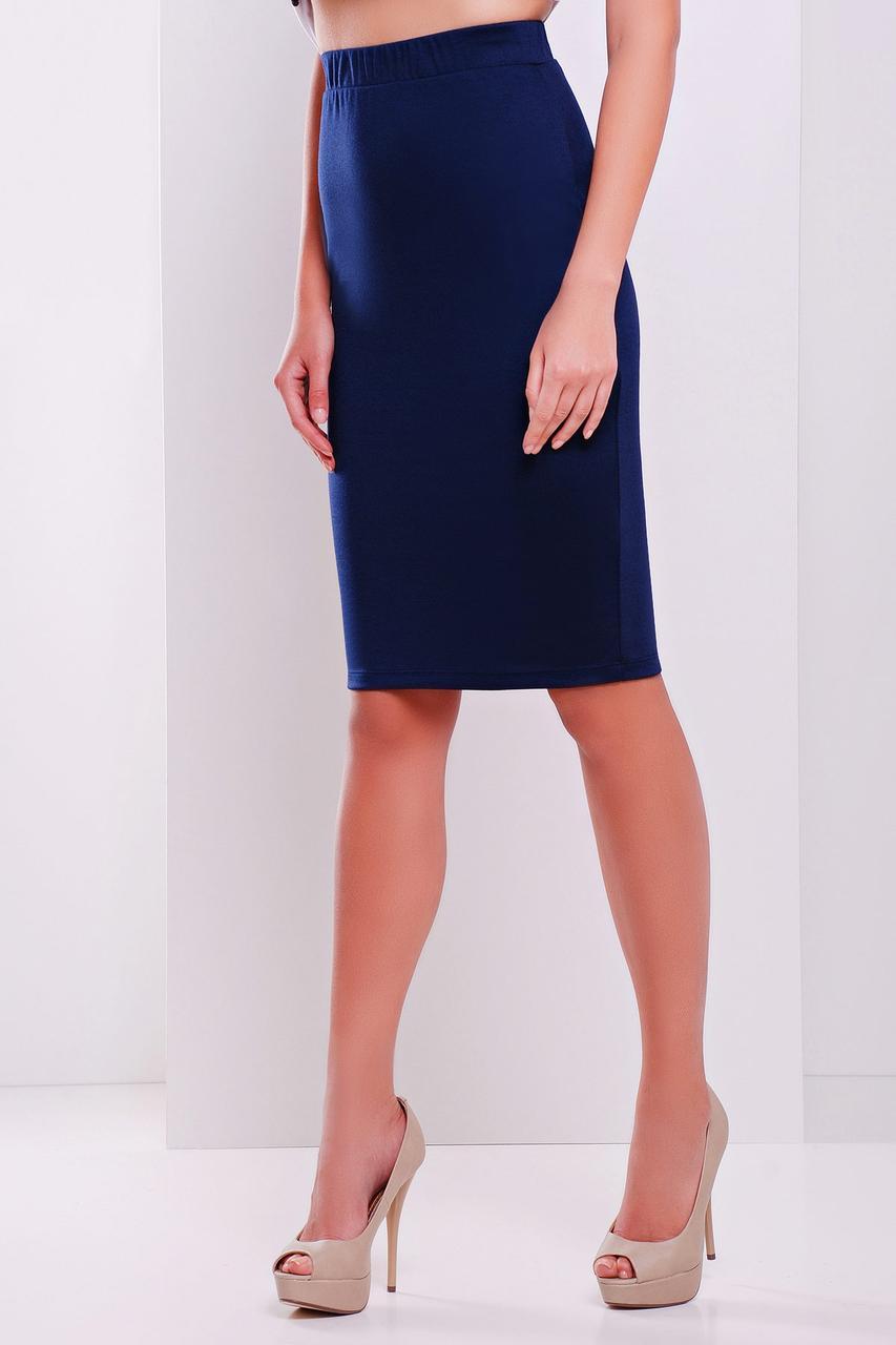 f5a4165f8d7 Трикотажная юбка карандаш синяя - СТИЛЬНАЯ ДЕВУШКА интернет магазин модной  женской одежды в Киеве