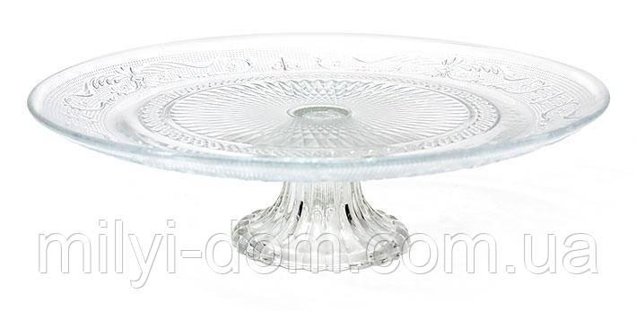 Подставка для торта, стеклянная, внешний диаметр 32,5см.