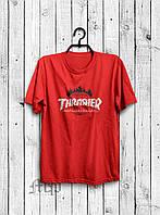 Стильная мужская футболка Thrasher красная