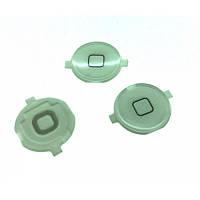 Кнопка центральная iPhone 3GS White (пластиковая)