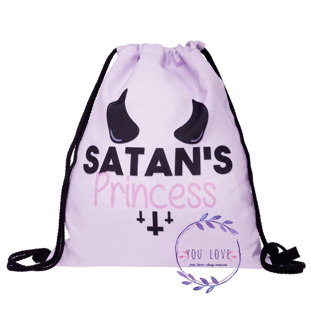 Сумка мешок спортивная на затяжках Satan's Princess