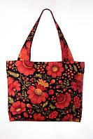 Текстильная сумка Flowers on Red