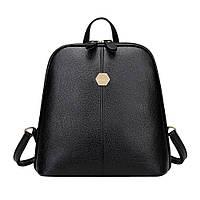 Рюкзак сумка женский кожаный Einety (черный)