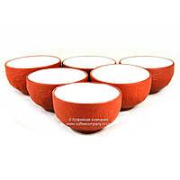 Пиала чайная исинская глина/фарфор с декором 6х35мл 9275