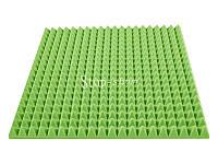Акустический поролон «Пирамида 70» 1*1 м. Зелёный.